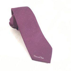 Oscar de la Renta Accessories - Oscar De La Renta Purple Silk Neckwear Tie